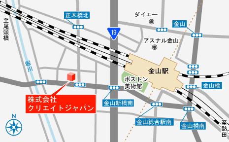 地図 エンジニア アウトソーシング 名古屋市